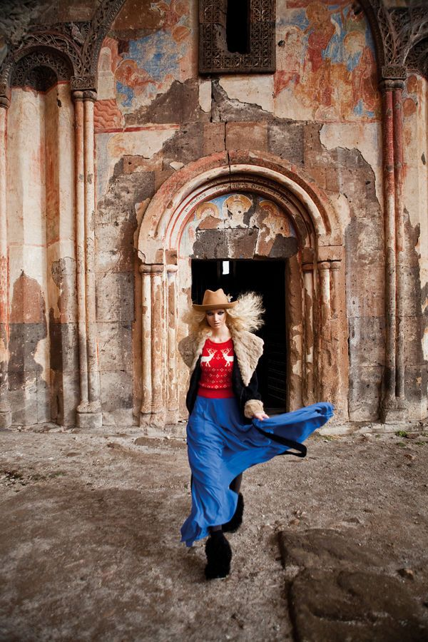 Elle Turkey's fashion shoot is the inspiration for a fun activity on our student trip to Ani.