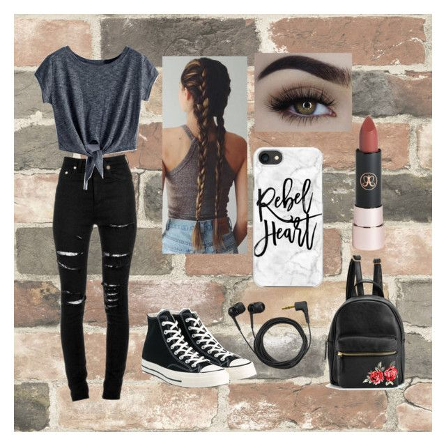 """Wednesday ootd"" by camaro1992 on Polyvore featuring Wall Pops!, Yves Saint Laurent, Converse, Sennheiser and Casetify"