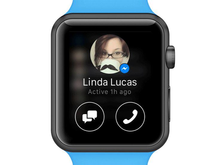 Facebook Messenger for Apple Watch Friend List Apple