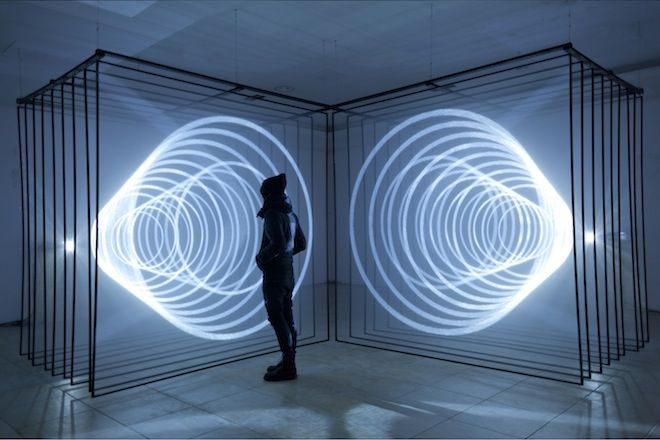 Audio/visual installation Daydream V. 2 explores the relationship between space, light and sound. Image: Nonotak