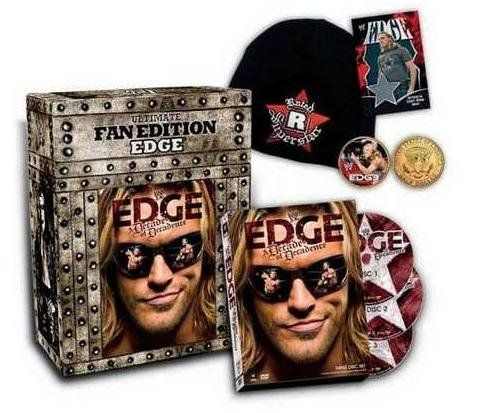 WWE: Edge - A Decade of Decadence (Ultimate Fan Edition):   Love him or hate him, you cannot deny the impact Edge has had on WWE. He is responsible for some of the most infamous moments in WWE history. Utilizing his incredible athleticism and ferocious determination, he has risen through the ranks, winning the Tag Team Championship, the King of the Ring, the Intercontinental Championship and ultimately the World Heavyweight Championship. For the first time ever, fans can trace his stor...
