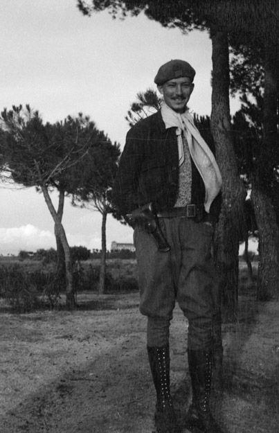Spain - 1937. - GC - Quinto - 15. Inter-brigada - commandant du bataillon Lincoln Philip Detro