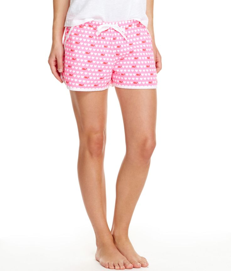 Shop Whale Hearts Knit Lounge Shorts At Vineyard Vines