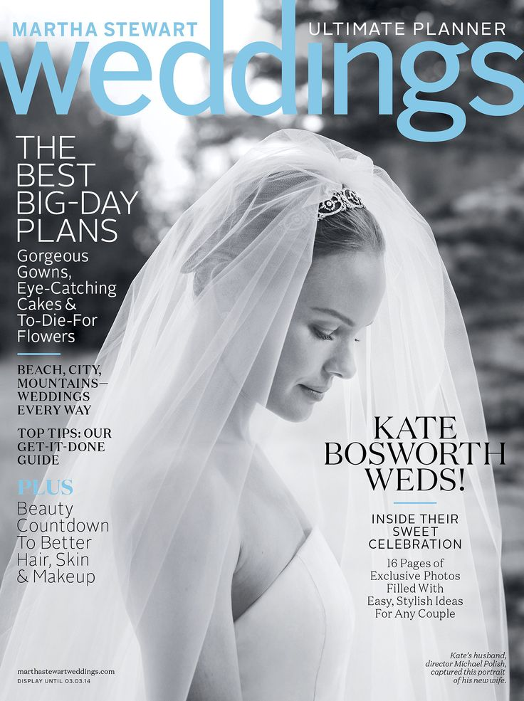 Simply stunning! Kate graced the cover of the Winter issue in an intimate black-and-white snapshot that captured the grace of her strapless Oscar de la Renta gown. Source: John Dolan for Martha Stewart Weddings