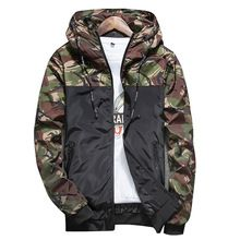 Nuevo 2017 de la moda de los hombres chaqueta con capucha Delgada militar Características de la Cremallera de Costura de la chaqueta cortavientos chaqueta más el tamaño M-4XL H6682