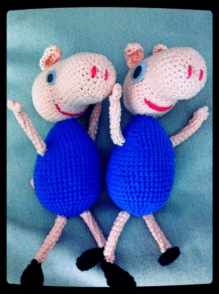 Terminados!! #GeorgePig #crochet #amigurumi