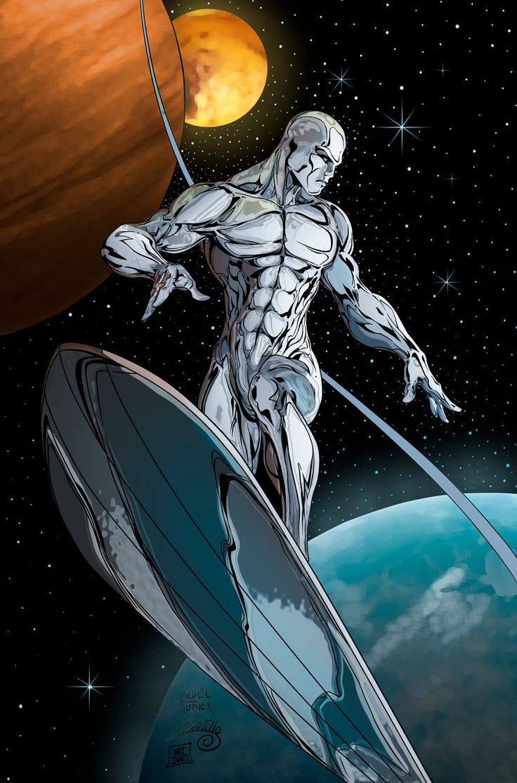 Silver Surfer - Pencils by Michael Turner, Inks by Adrian Castillo, Flats by Carlos Campos, & Colors by Matt James