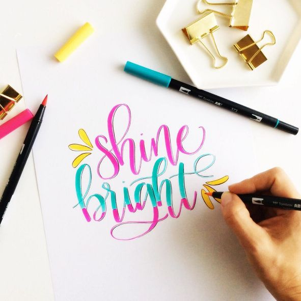Free Download: Brush Lettering Worksheets from Tombow