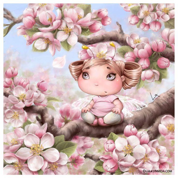 Apple blossom fairy by LiaSelina on deviantART