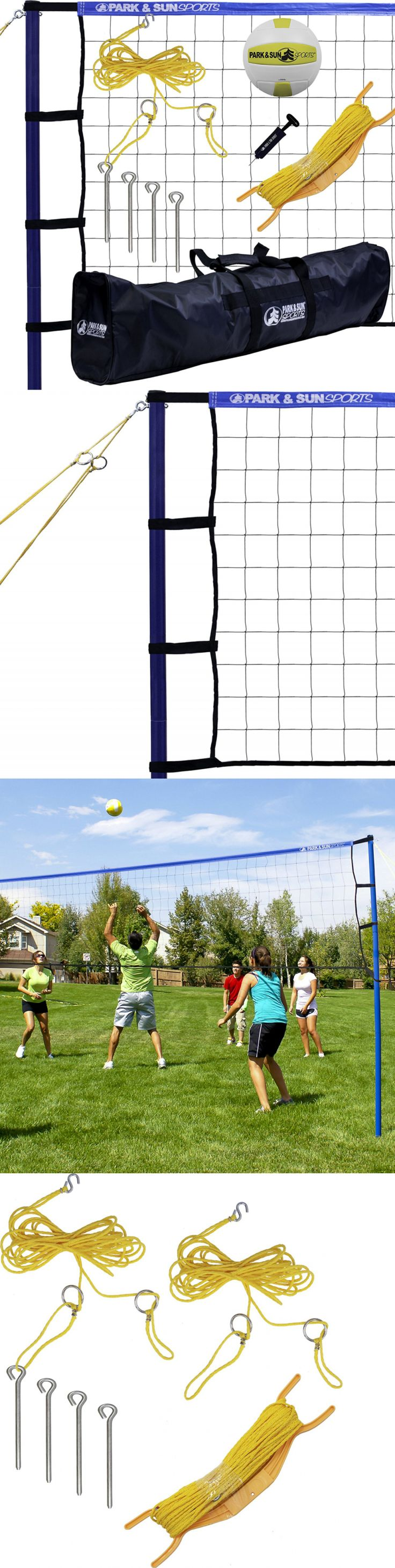 Nets 159131: Volleyball Net Set Portable Court System Equipment Outdoor Beach Backyard Play N -> BUY IT NOW ONLY: $101.95 on eBay!