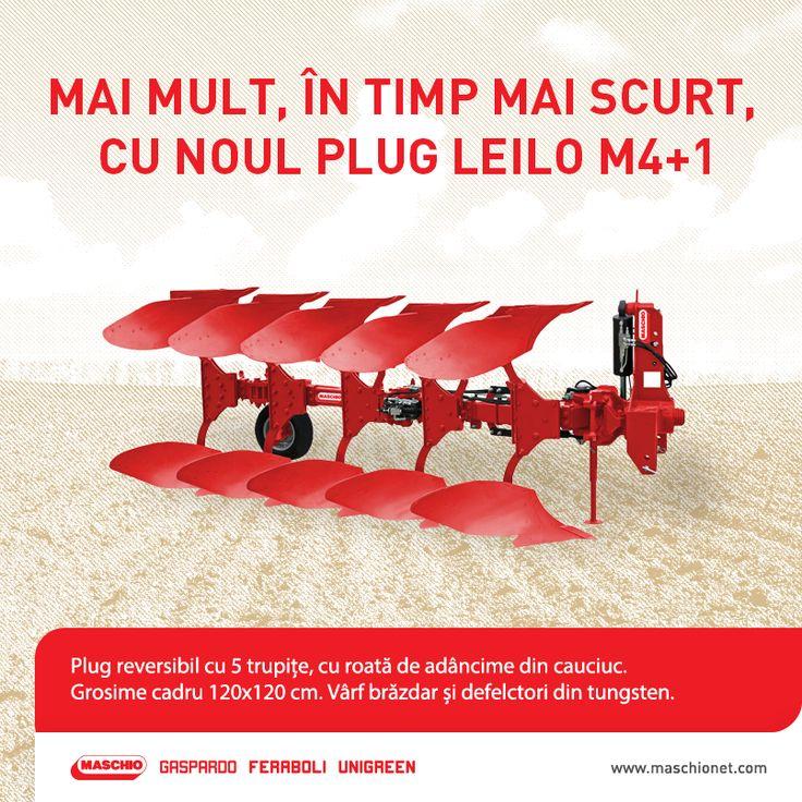 Dacă vrei să lucrezi pământul într-un timp mai scurt și cu mai puține treceri ale tractorului, alege un plug cu o lățime medie sau mare. Alege plugul Leilo M4+1!