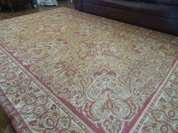 """LAURA ASHLEY RUG """"MARIA"""" WOOL MIX Aubusson shabby chic VICTORIAN TAPESTRY HUGE #LauraAshley #TraditionalEuropean"""