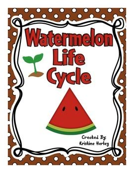 Watermelon Life Cycle:This resource contains 12 different activities focused on the life cycle of a watermelon. All of the activities are available in COL0R and BLACK and WHITE!!!-informational reader: mini-book-flip flap book-petal book-watermelon life cycle ordering worksheet (circular)-watermelon life cycle stages worksheet (linear)-watermelon life cycle cards to cut and sequence (a set of colored, a set of black and white, and a set of word cards)-6 two piece life cycle vocabulary card…