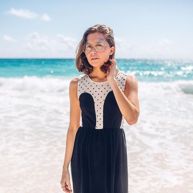 R/H STUDIO Instagram This girl with sparkling in her eyes really light up our days! ✨ @janitaautio in our SS17 Mickey Dress at Caribbean. 👄👄#rhstudio #mickeydress #dots #ss17 #homeonholidaycollection