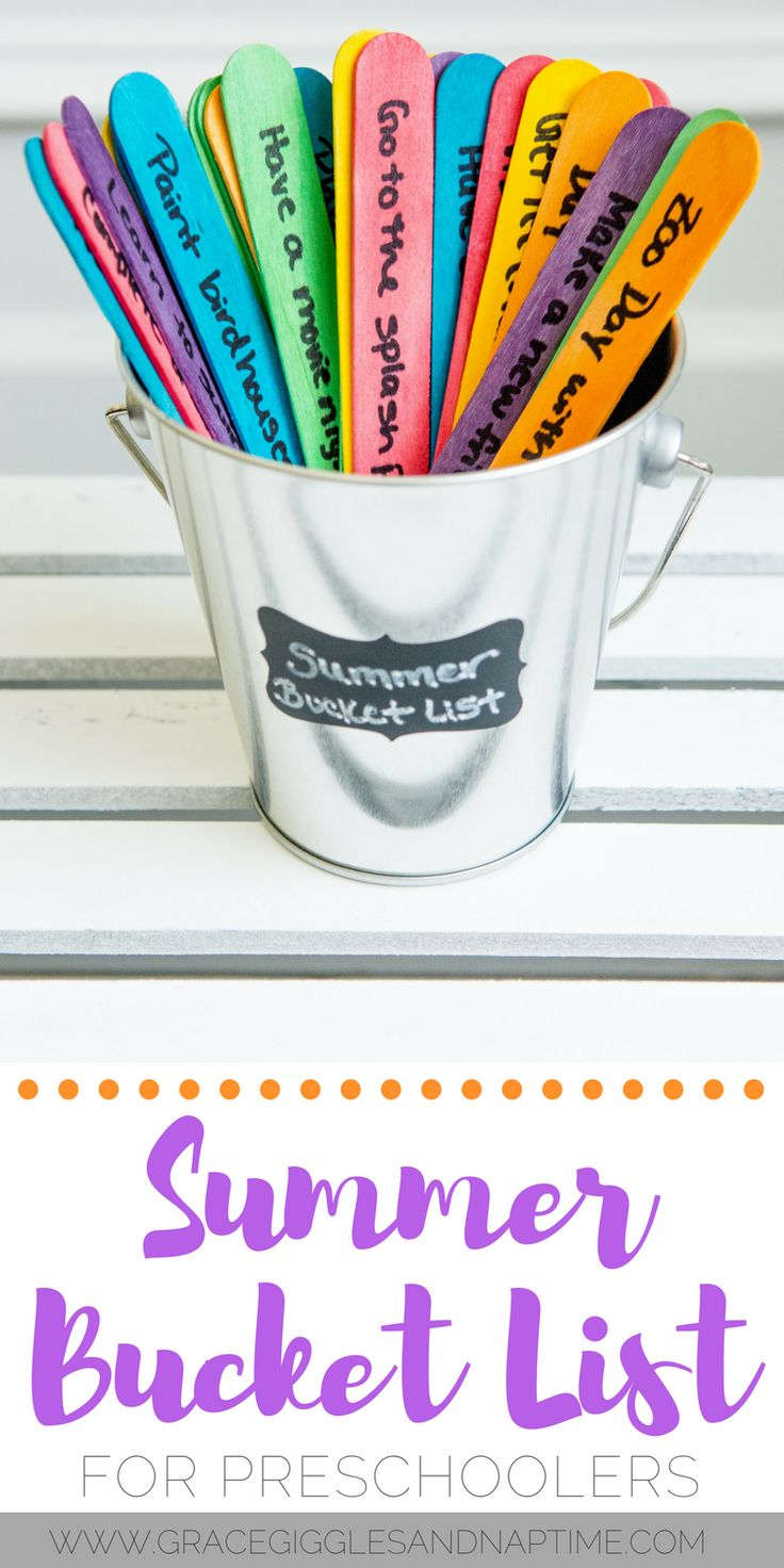 Make this fun & simple summer bucket list for preschoolers using popsicle sticks!