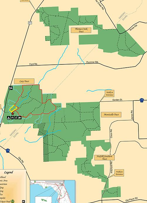 General Map of Cary State Forest