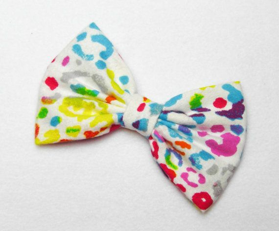 Cheetah+hair+Bow+Rainbow+Hair+Bow+Rainbow+hair+clip+by+JuicyBows,+$4.99