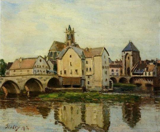 Moret sur Loing, Morning, 1892, Alfred Sisley Medium: oil on canvas