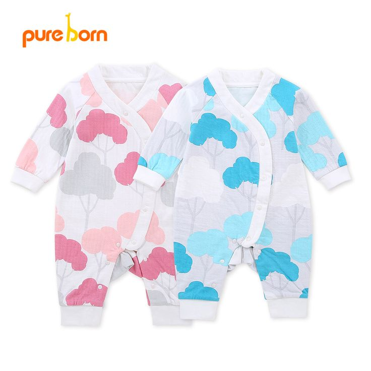 Cotton Tree Designs Newborn Baby Boy Girl Rompers Outfit Costume Romper Clothes Set One-Pieces Free Shipping Pureborn