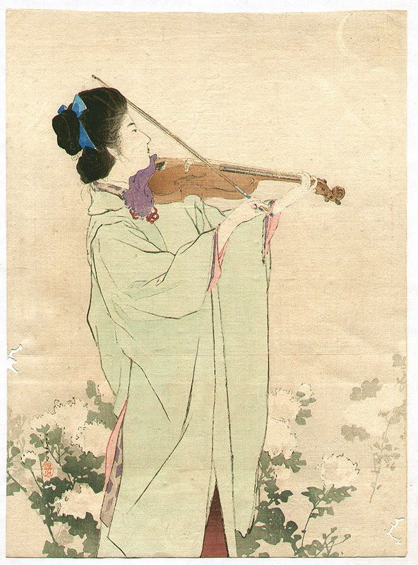 Violin player - Kiyokata Kaburagi