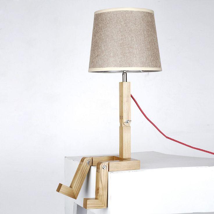 Lampe SIT bois de hêtre.