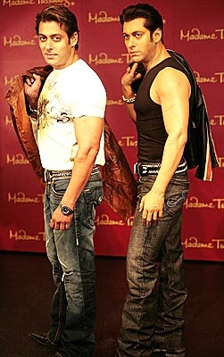 Salman's wax statue at Madame tussauds in London :)