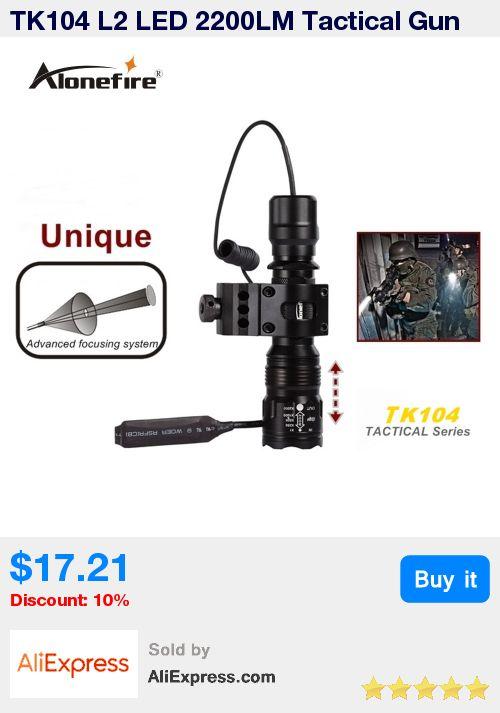 TK104 L2 LED 2200LM Tactical Gun Flashlight  5mode Pistol Handgun Torch Light Lamp Taschenlampe+gun scope mount+remote switch * Pub Date: 02:42 Apr 14 2017