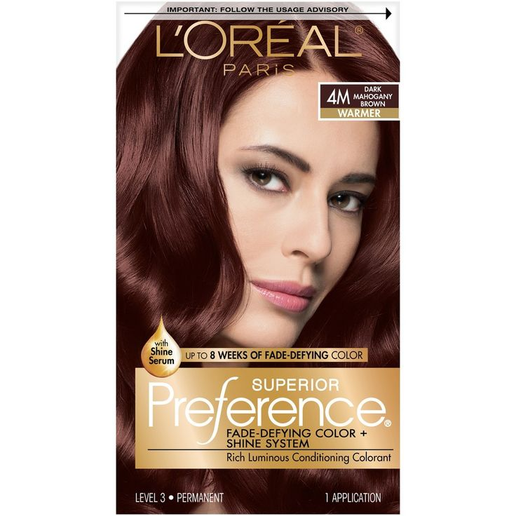 L'Oreal Paris Superior Preference Fade-Defying Color + Shine System - 4M Dark Mahogany Brown - 1 Kit