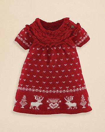 66835f34a9fe Ralph Lauren Childrenswear Infant Girls  Reindeer Sweater Dress ...