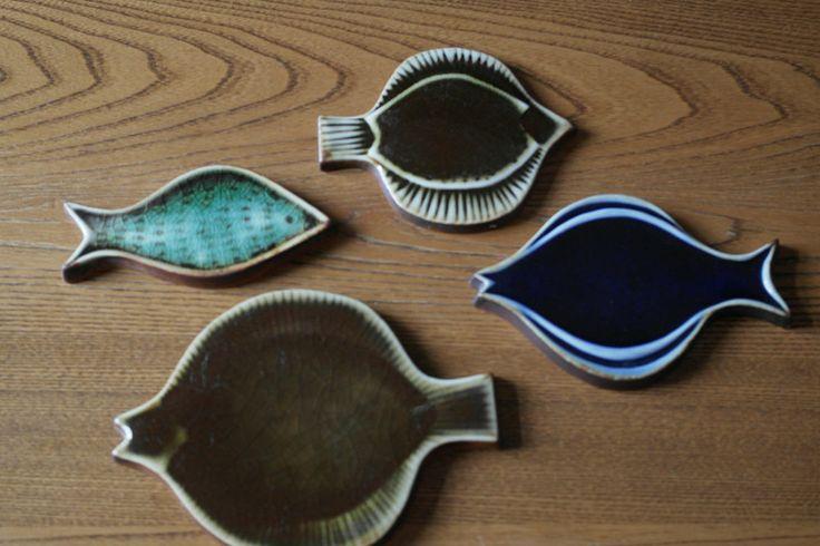 1950s Vintage Arabia of Finland ceramic fish designed by Gunvor Olin Gronqvist
