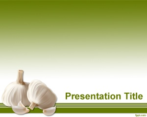 Garlic PowerPoint Template is a free PowerPoint template that you can use to create presentations for international food or other food exhibit presentations
