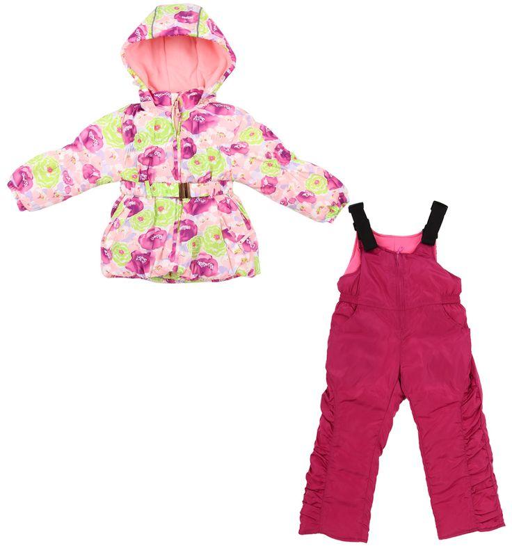 Комплект полукомбинезон/куртка Bony Kids, цвет: розовый/фиолетовыйКомплекты