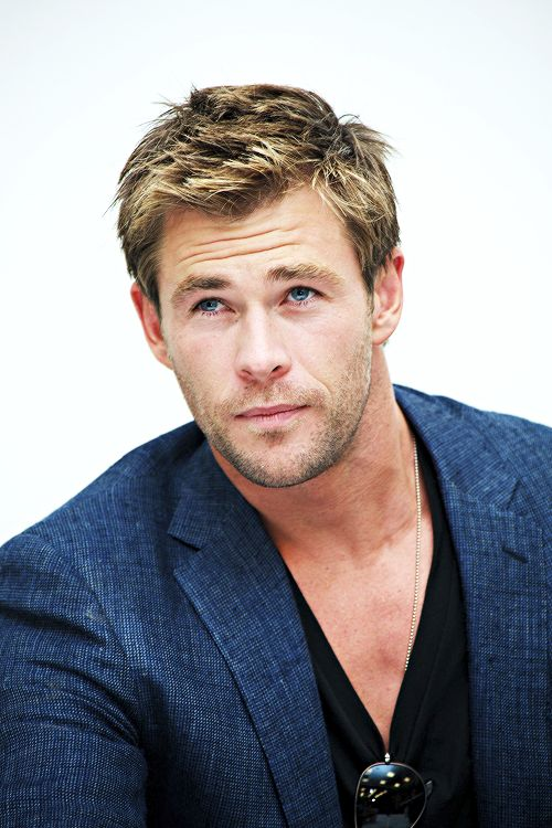 Chris Hemsworth at the 'Avengers: Age of Ultron' press conference April 11, 2015