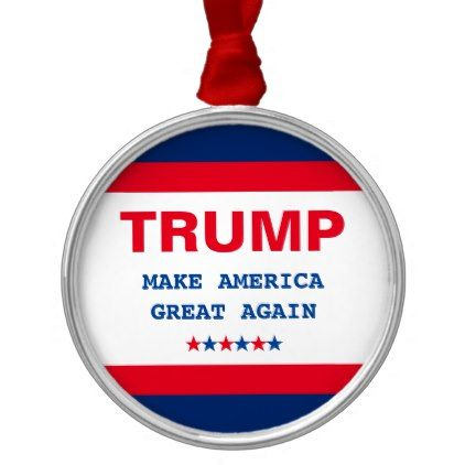 Make America Great Again Donald Trump Christmas Metal Ornament - home gifts ideas decor special unique custom individual customized individualized