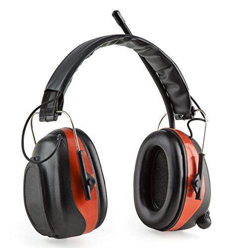 auna Jackhammer 2.0 – Casque de chantier anti-bruit Bluetooth avec tuner radio FM haute fréquence intégré et prise AUX (atténuation 28dB, 5…