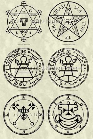 Seals Of The Spirits From The Lesser Key Of Solomon