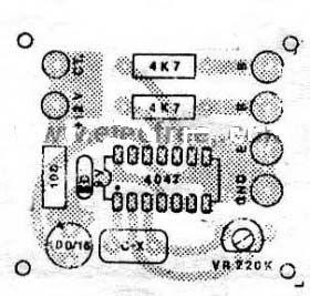 Four CD4047 Inverter circuit 60W-100W 12VDC to 220VAC