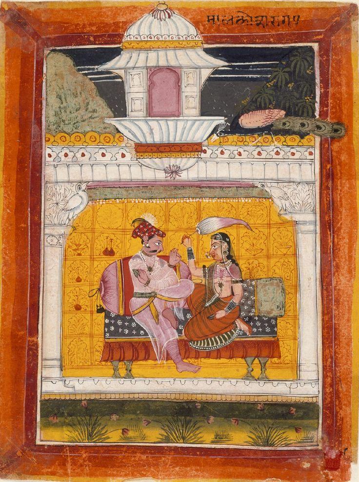 Malkos Raga, Folio from a Ragamala (Garland of Melodies). India, Rajasthan, Sirohi, circa 1675.