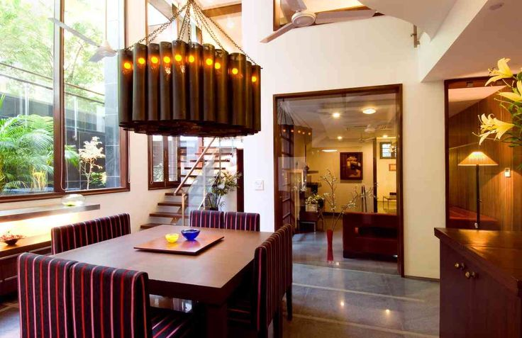 Dining room Design; Residence by architect kumar moorthy associates