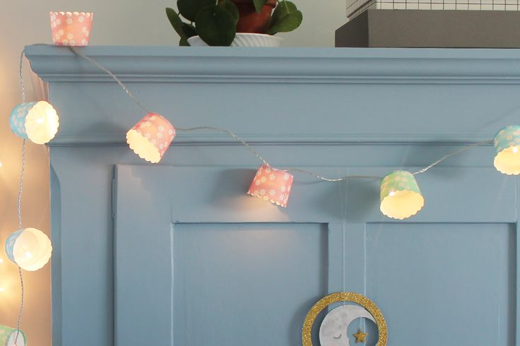 Lyskæde med cupcakeforme – DIY   Den Kreative Sky