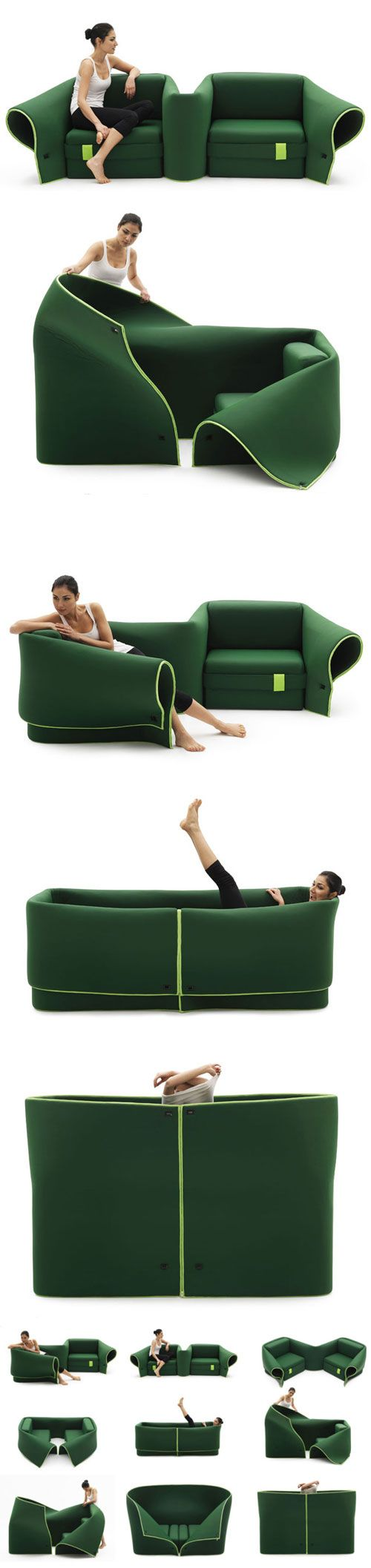 Convertible Sofa. THIS IS THE COOLEST THING EVER