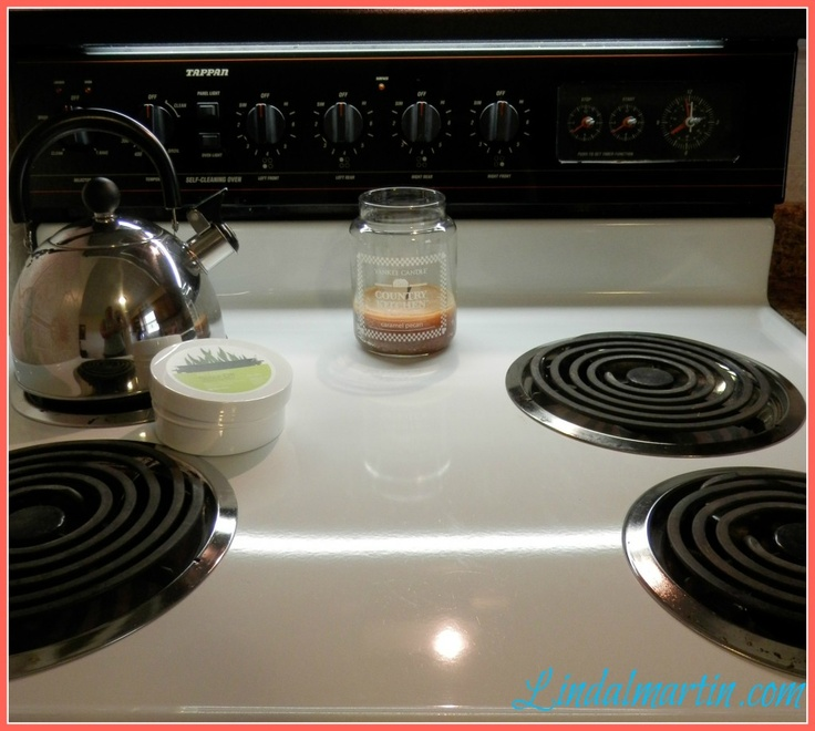 how to clean carbon off stove top