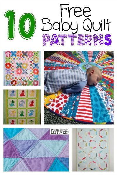 Here are 10 free Baby Quilt Patterns to get you started for a baby shower gift or if you are just looking for free baby quilt patterns for your own baby.