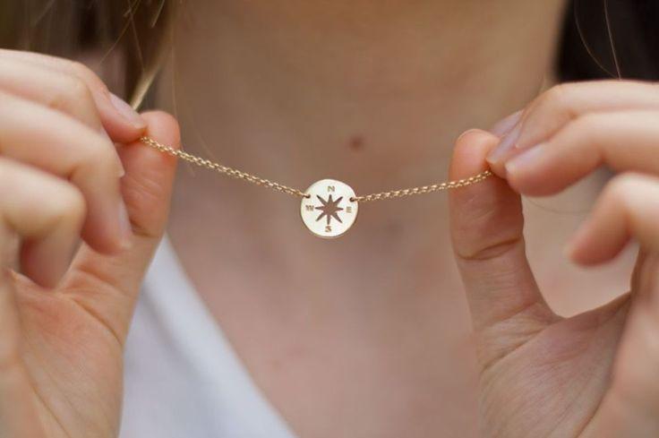 Compass - Róża Wiatrów naszyjnik srebrny pozłacany Żółte złoto | Biżuteria damska \ Naszyjniki \ Naszyjniki pozłacane Kolekcje \ Kolekcja Letnia | Filigree.pl