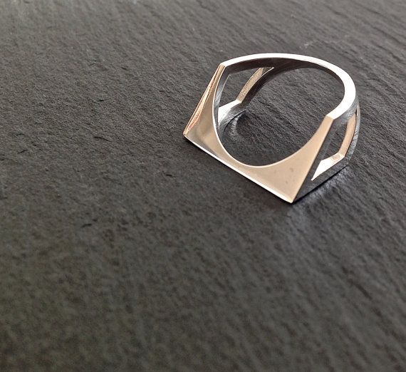 Beautiful 3D printed sterling silver ring by MBDdesign