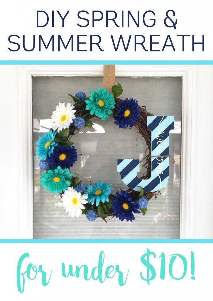 341 best door wreaths diy images on pinterest christmas for Diy summer wreath