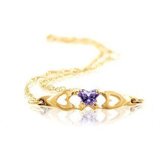 Bfly Cz Birthstone Bracelet W/Box 14K Yellow Gold February Brc W/Box Bracelets-MidwestJewellery. $111.39. February Brc W/Box. 14K Yellow Gold. Bfly Cz Birthstone Bracelet W/Box. Base Size = 6. 100% Satisfaction Guaranteed. Save 49% Off!