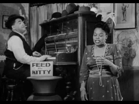 """Fats Waller  Ada Brown - That Ain't Right - Stormy Weather (1943).(Nat 'King' Cole  Irving Mills), with Lena Horne, dancer , Bill """"Bojangles"""" Robinson, drummer Zutty Singleton, bassist Slam Stewart, Trumpeter Benny Carter... in """"Stormy Weather"""" (1943) by Andrew L. Stone, for Twentieth Century Fox Film Corporation"""