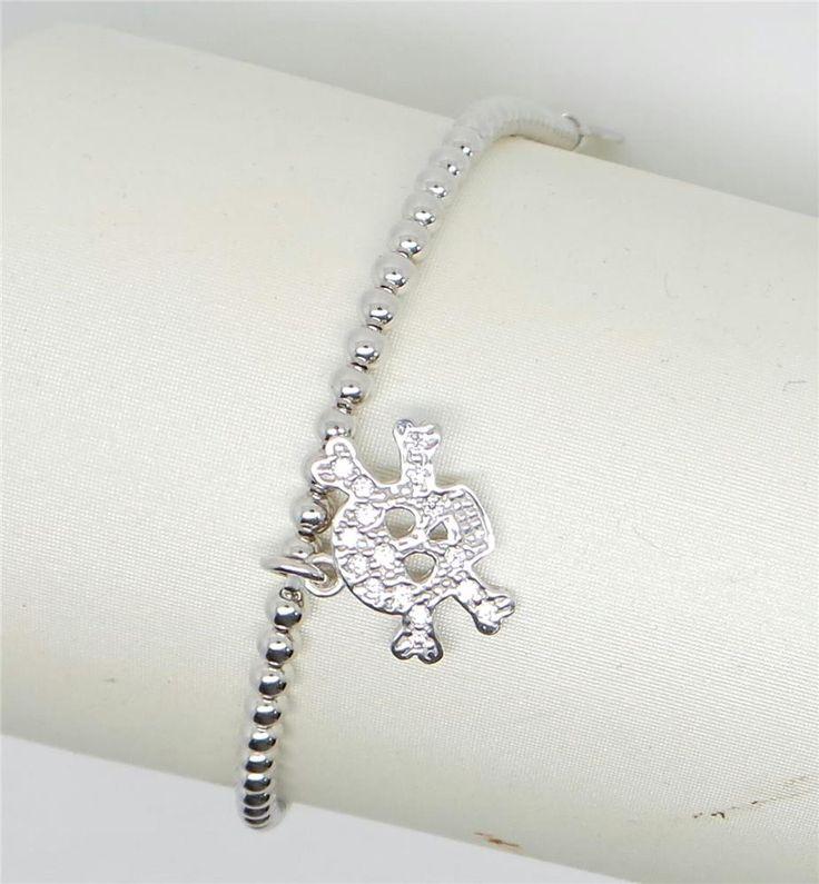 cp_gioielli - braccialetto teschio e zirconi - 7135