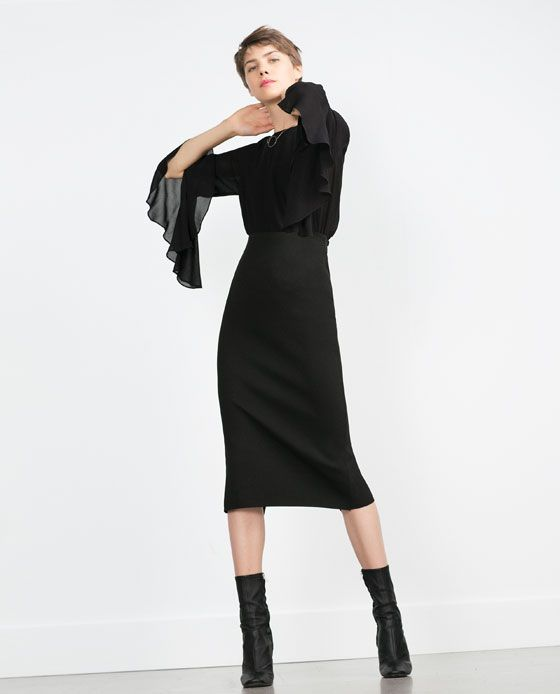 Image 1 of TUBE SKIRT from Zara